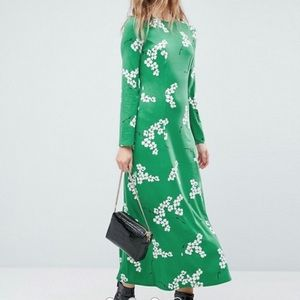 NWT ASOS Green Floral Maxi Dress.
